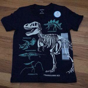 Carters glow in the dark dinosaur t-shirt